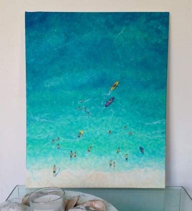 """""""Hullabaloo"""" Acrylic on canvas, 50x40 cm. Unframed. £ 85."""