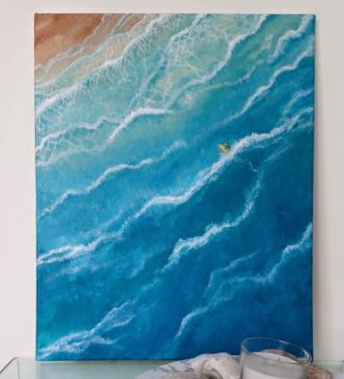 """""""Euphoria"""" Acrylic on canvas, 50x40 cm. Unframed. £ 130."""