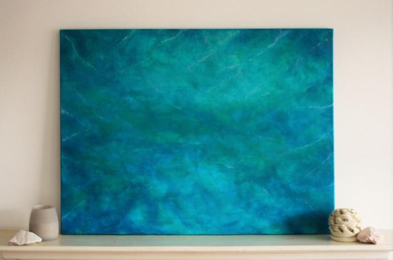 """""""Aerial #002"""" (2015) Acrylic on canvas, 60x80 cm. ITEM STILL AVAILABLE"""