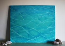 """Pool #001"" (2015) Acrylic on canvas, 50x60 cm. ITEM STILL AVAILABLE"