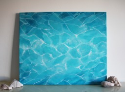 """Pool #002"" (2014) Acrylic on canvas, 50x60 cm. ITEM SOLD"