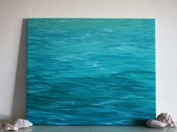 """Wave #003"" (2014) Acrylic on canvas, 50x60 cm. ITEM SOLD"