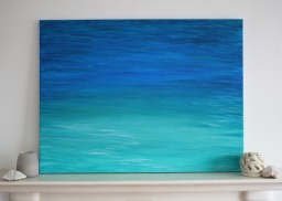 """Wave #005"" (2015) Acrylic on canvas, 60x80 cm. ITEM SOLD"